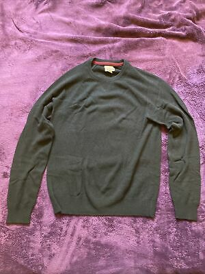 $23 • Buy 1901 Black 100% Cashmere Sweater Mens Size Small S Pre Owned Crew Neck Very Soft