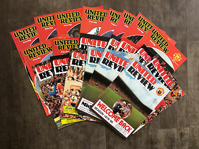 £2.99 • Buy Manchester United 20+ HOME Programmes 1979-80 & 1980-81 - Fair