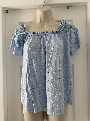 £3.50 • Buy Pale Blue Womens Summer Off The Shoulder Tops 16