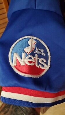 $19.99 • Buy NEW JERSEY NETS MAJESTIC NBA 90s Warm Up Shirt ADULT XL VINTAGE