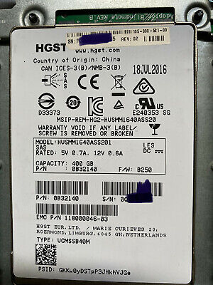 £69 • Buy HGST SSD SAS 2.5  In 3.5  Caddy 400GB Husmm1640ass201 HP Compatible