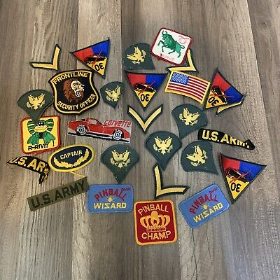$9.99 • Buy Lot Of Military Army Sleeve Arm Patches Mostly & Some Pinball & Corvette Patch 2