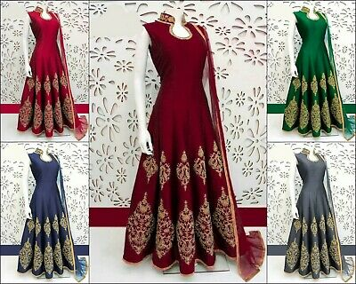 £19.99 • Buy Indian Ethnic Wedding Wear Salwar Kameez Gown Suit Dress With Embroidery Work BF