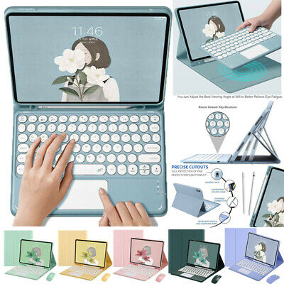 AU48.29 • Buy Bluetooth Keyboard W Touchpad Case Cover For IPad 5 6 7 8th Pro Air 2 3 4 2021