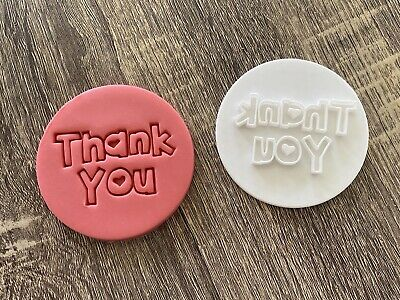 AU6.99 • Buy Thank You Cookie Fondant Stamp Embosser Style #2