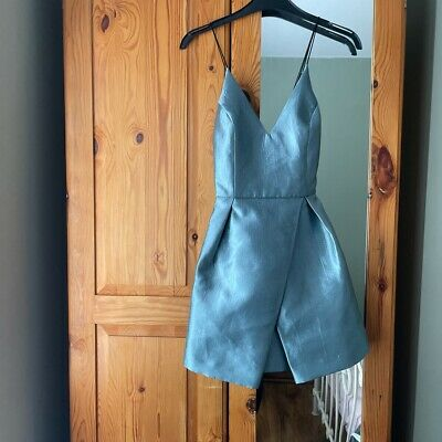 £4.99 • Buy Topshop Boutique Teal 80s Style Prom Dress