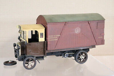 £99.50 • Buy SCRATCH KIT BUILT G GAUGE 1 GWR FLAT TRUCK LORRY With CONTAINER LOAD Oa