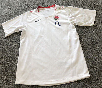 £15 • Buy Nike England Rugby Union White Training Shirt Top - Adults Men's Size Small S