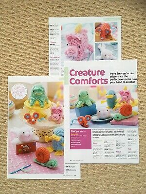 £1 • Buy CREATURE COMFORTS TOY CROCHET PATTERN - Pig, Seal, Mouse, Snail, Octopus & More