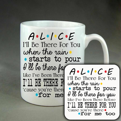 £11.99 • Buy Personalised Friends Mug Or Coaster Or Set Cup - Christmas Birthday Present Gift