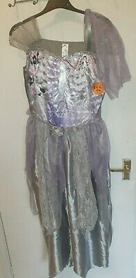 £3.99 • Buy Zombie Corpses Bride Halloween Costume Fancy Dress Outfit Aged 13-14 Purple NEW
