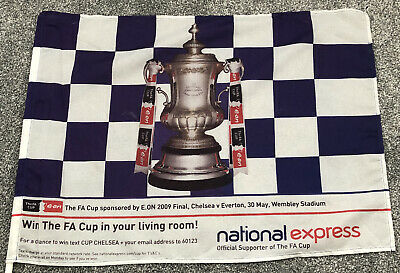 """£7.99 • Buy FA CUP FINAL. Official Flag CHELSEA V EVERTON Wembley 2009 2'x1'4"""""""