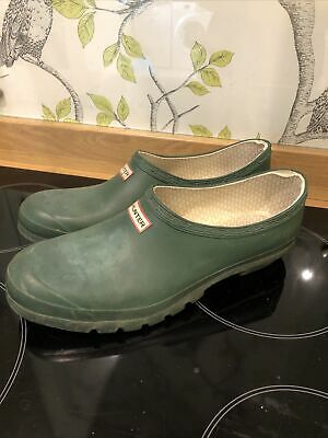£8 • Buy Mens Hunter Wellies Size 11 Shoes Slip On Gardening Shoes Green Wellington Clogs