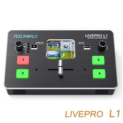 £300.19 • Buy Fpr Live Streaming USB3.0 Multi-format Video Mixer Switcher 4 HDMI Inputs Tool