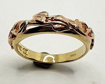 £210 • Buy Welsh Clogau 9ct Rose Gold And Yellow Gold Tree Of Life Ring Size O