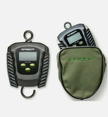 £33.99 • Buy Saber Digital Folding Fishing Scale And Pouch Electronic Weigh Carp 110lb 50Kg