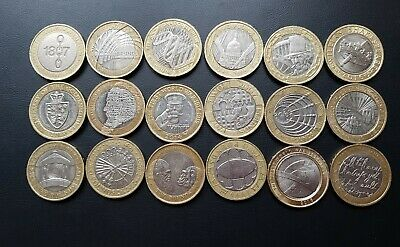 £56 • Buy Job Lot 18 X £2 Pound Circulated Coins, Not One The Same.