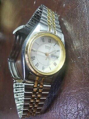 £5 • Buy Seiko Women's Ladies Classic Quartz Two-tone Watch 7N83-0011 New Battery Fitted