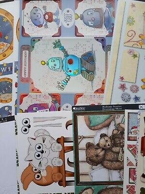 £8 • Buy Large Mixed Bundle Of Cardmaking Kit For Children Kids, Toppers, Decoupage, Robo