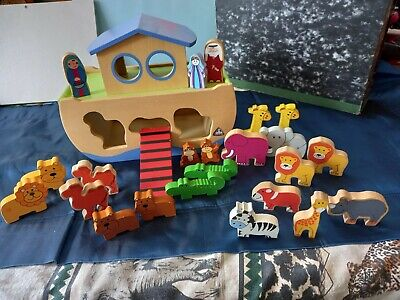 £5 • Buy ELC Wooden Noah's Ark Toy With Animals Shape Sorter Early Learning Centre