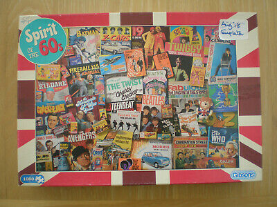 £2.50 • Buy Gibsons-Spirit Of The 60s-1000 Piece Jigsaw Puzzle