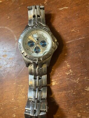 $10 • Buy Mens Fossil Blue Watch For Parts. Broken.