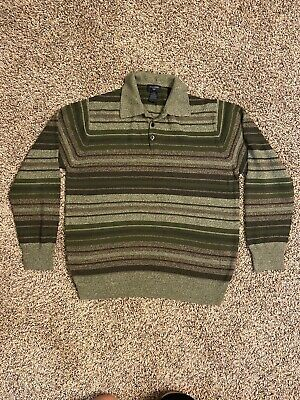 $14.99 • Buy DOCKERS Mens Sweater Medium Polo Button Up Neck Collared Long Sleeve