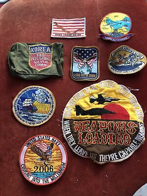 $10 • Buy Vintage Assorted Lot Of 8 Military Patches USMC Air Force Navy Air Wing Korea