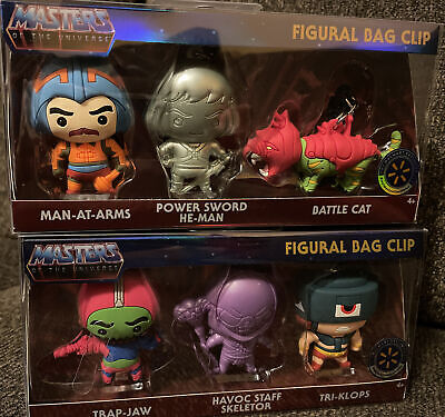 $74.99 • Buy Masters Of The Universe 2021 Figural Bag Clip Walmart Exclusive Two Sets Of 3