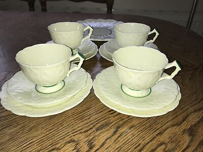£29 • Buy Vintage Rare 1931 Aynsley Cabbage Leaf 765788 Pale Yellow & Green Part Tea Set