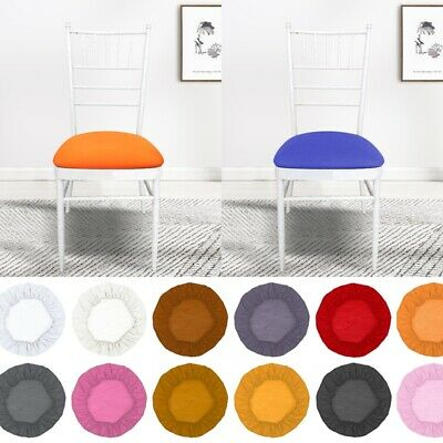 £2.76 • Buy Thickened Elastic Stretch Round Dining Chair Covers Removable Seat-Slipcover^
