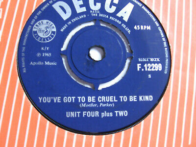 £1 • Buy UNIT FOUR Plus TWO - YOU'VE GOT TO BE CRUEL TO BE KIND VG