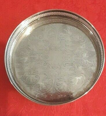 £5 • Buy Cavalier Silver Plated Circular Tray - Made In England - 8  Diameter