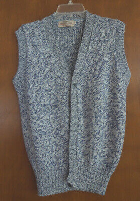 $14.99 • Buy Boston Athletic Club By Gil Truedsson Mens Mixed Blue Button Down Sweater Vest M