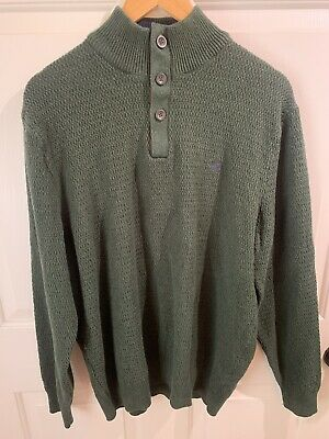 $17.90 • Buy Chaps Men's Green/Brown Patched Elbows Knit Pullover Size X-Large Sweater