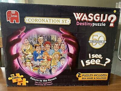 £4.50 • Buy Wasjig Jigsaw Puzzles 1000 Pieces Confrontation Street Special 2puzzles