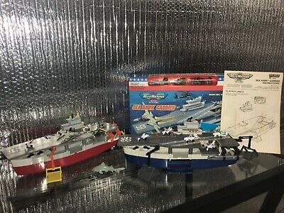 $215 • Buy Micro Machines Military Battle Zones 100% COMPLETE Sea Hawk Carrier + Red Aircra