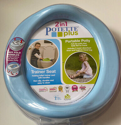 £14.99 • Buy 2 In 1 Potette Plus - Portable Potty And Trainer Seat Blue