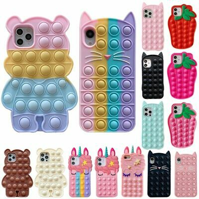 £14.58 • Buy Silicone Phone Case For IPhone 12 Cover Reliver Stress Po Bubble Cover For SE 2