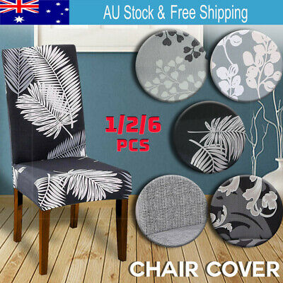AU2.99 • Buy 1-6 PCS Dining Chair Covers Spandex Slip Cover Stretch Wedding Banquet Party