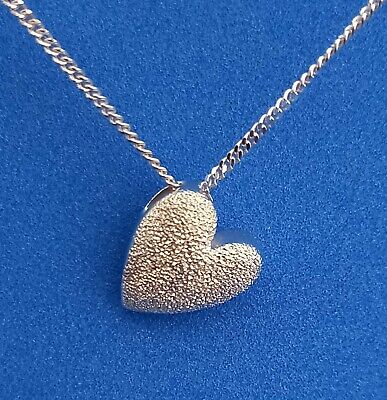 £12.99 • Buy Sterling Silver 925 Heart Pendant Necklace