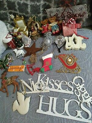 $ CDN1.24 • Buy Lot 25 Vintage To Now Christmas Ornaments Assortment