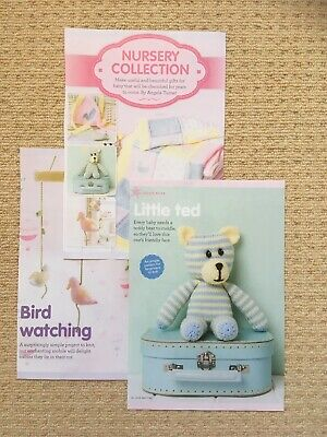 £1 • Buy Nursery Collection Knitting Pattern - Cute Teddy, Blanket, Mobile & Bunting