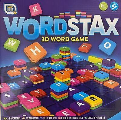 £7.95 • Buy Traditional Family Board Games Word Stax 3D Word Game Children's Toys