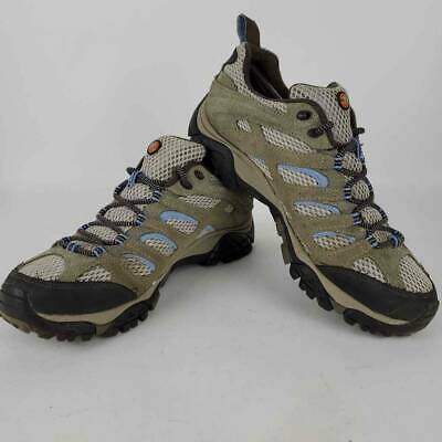 $ CDN39.50 • Buy Merrell Womens Moab Hiking Shoes Beige J88796 Low Top Leather Lace Up Mesh 8.5 M