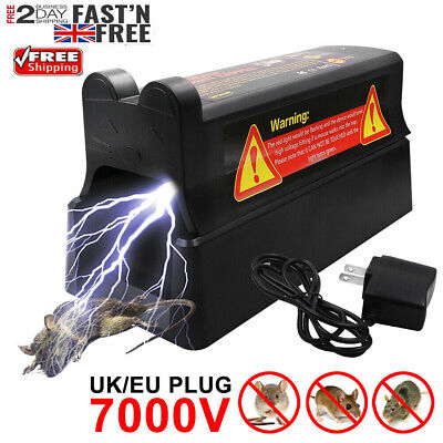 £26.99 • Buy Electronic Mouse Trap Mice Killer Rat Pest Control Electric Zapper Rodent UKPlug