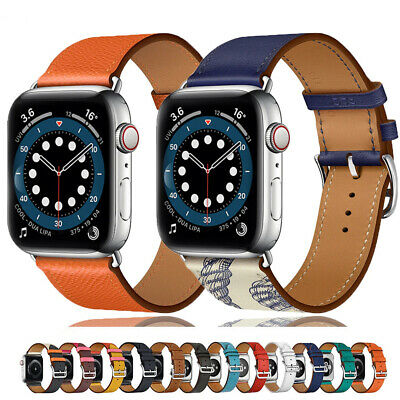 $ CDN0.17 • Buy For Apple Watch Strap Band IWatch Series 6 SE 5 4 3 2 1 38/40/42/44mm LEATHER