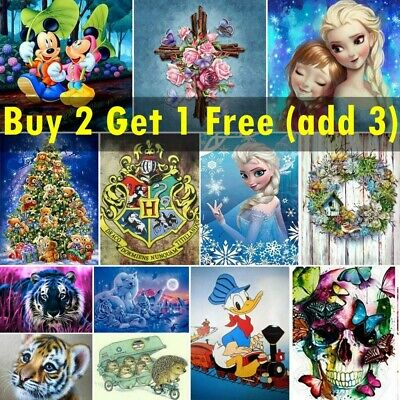 AU14.99 • Buy 5D Full Drill Diamond Painting Embroidery Cross Stitch Kits Arts Decoration Gift