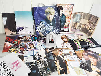 AU33.75 • Buy Justin Bieber Bulk Lot Posters Magazines Collectable Newspapers 2012 Calendar