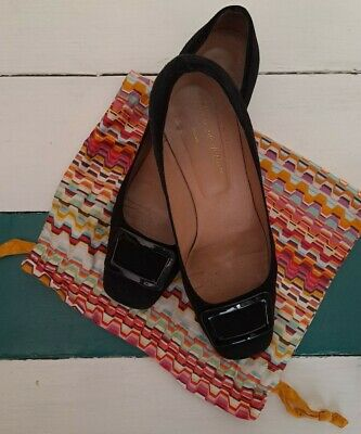 £12 • Buy BLACK SUEDE COURT SHOES 41 With Missoni Shoe-bag. Timeless And Made In Italy